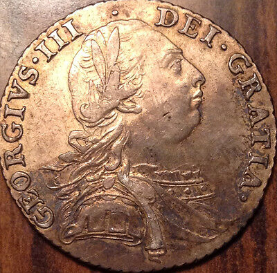 1787 Gb Uk Great Britain Silver Shilling In Magnificent Condition !!!