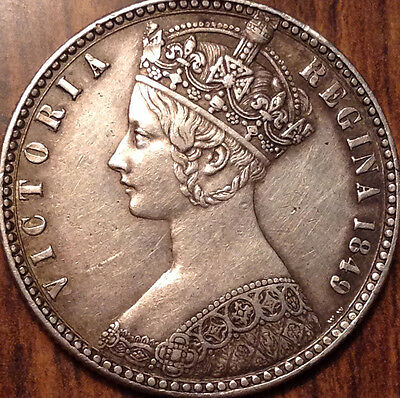 1849 Gb Uk Great Britain Silver Florin A Truly Remarkable Example !