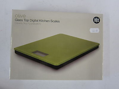 Ethos Olive Green Digital Kitchen Scales With Battery Capacity 5Kg Item: 210/036