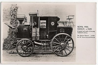 Royal Mail Coach C1820 Science Museum Issue Old Photo Postcard