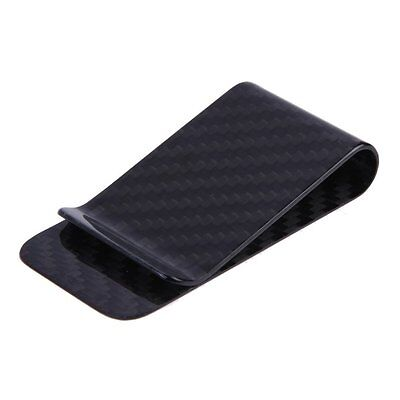 Anself Real Carbon Fiber Money Clip Business Card Credit Card Cash Wallet and