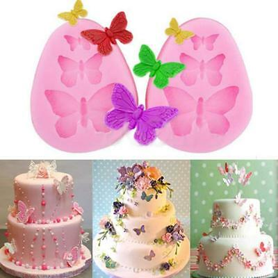 Silicone Butterfly Mold Cake Fondant Decorating Sugar Craft Mould DIY Kuchenform