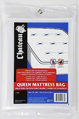 """UBOXES Moving Supplies Queen Size 90"""" x 15"""" x 61"""" Inches 2 MIL Heavy Duty Cover"""