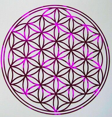 Magenta Flower of Life Decal