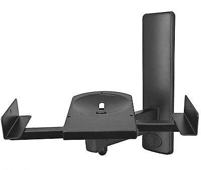 Pinpoint AM40-B Side Clamping Bookshelf Speaker Wall Mounts (1 Pair) Black