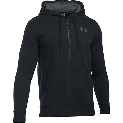 Under Armour Men's Fleece Hoodie Storm Rival Zippered Black