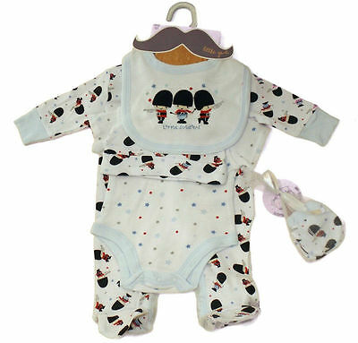5 Piece Baby Layette Clothing Gift Set Little Soldiers Design by Little Gent
