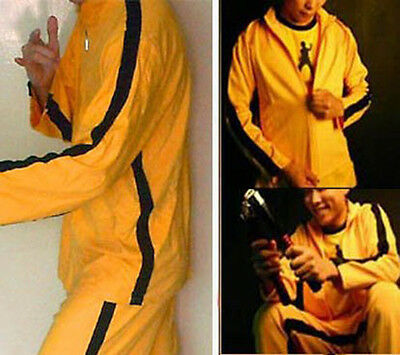 Vintage Style 2-Piece Bruce Lee / Kill Bill Yellow Tracksuit (4 Sizes)