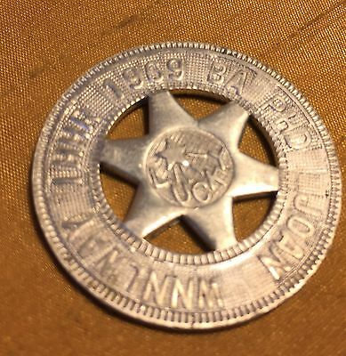 1969 Harvard Auto Machine Co Aluminum Sheriff Star Personalized GOOD LUCK Token