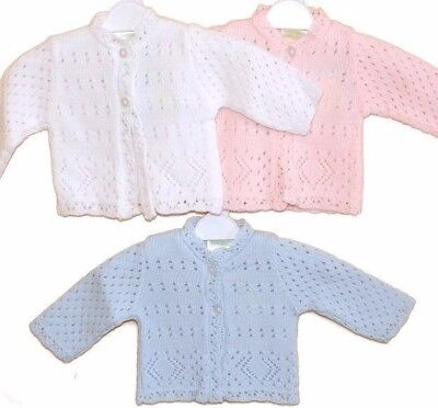 NEW Baby PREMATURE Cardigan Knitted babies cardigans 3-5lbs, 5-8lbs