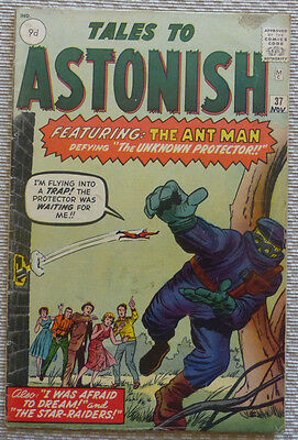 TALES TO ASTONISH 37, THE ANT MAN vs THE UNKNOWN PROTECTOR!! (VG/VG+)