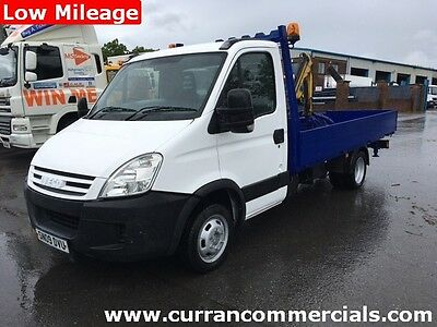 2009 Iveco Daily 35c15 3.5 Ton 14 ft Flat with 2.3 TM crane with winch