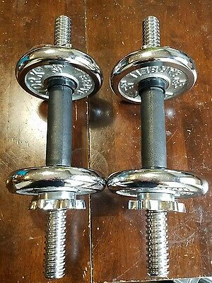 YORK Adjustable Chrome Dumbbells weights 2 1/2 plates