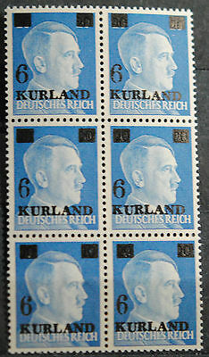Kurland Surcharged Hitler Head on Germany SC#516 XF VF MNH  & Variety