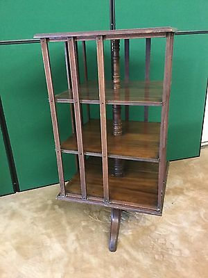 Antique Mahogany Large Revolving Bookcase