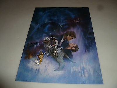 Star Wars 1980 The Empire Strikes Back Fan Club Poster Lucasfilm Style A Vintage