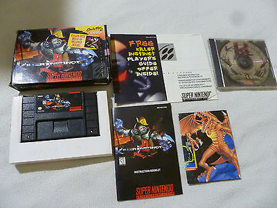 Boxed Super Nintendo Snes Killer Instinct Game & Soundtrack Lot Cuts Rare Set >