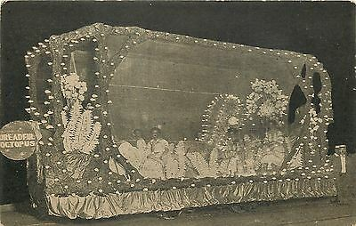 Parade Float~Dreadful Octopus~Ladies Inside~Adorned With Light Bulbs~1909 PC