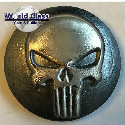 YPS 3 oz .999 fine silver Yeager's Poured YPS Punisher 3D Bar