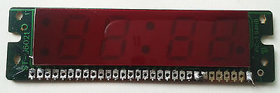 7 segment red LED duplex clock display for LM8560 12h/24h