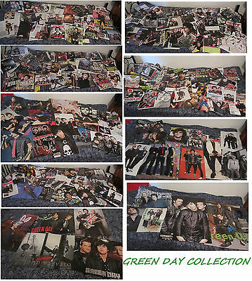 COLLECTION of GREEN DAY Clippings, magazine pinups, articles, posters LOT