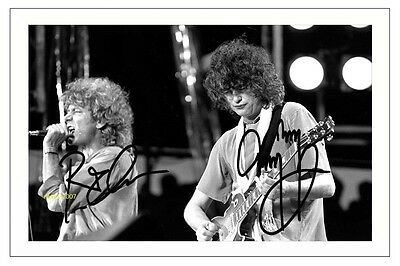 4x6 SIGNED AUTOGRAPH PHOTO PRINT OF ROBERT PLANT & JIMMY PAGE #44