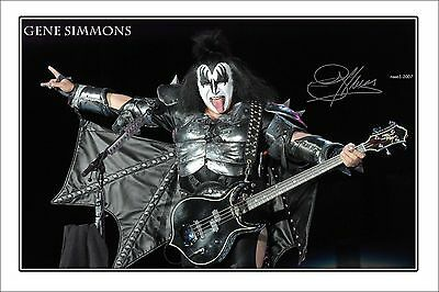 4x6 SIGNED AUTOGRAPH PHOTO PRINT OF GENE SIMMONS #46