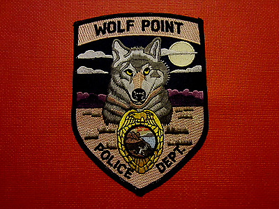 Collectible Montana Police Patch Wolf Point New