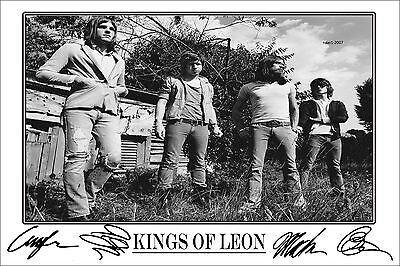 4x6 SIGNED AUTOGRAPH PHOTO PRINT OF KINGS OF LEON #46