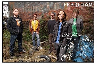 4x6 SIGNED AUTOGRAPH PHOTO PRINT OF PEARL JAM #46