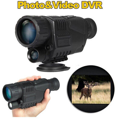 "1.44"" LCD Monocular Zoom Night Vision Scope Video Photo 5x40 Infrared Digital W4"