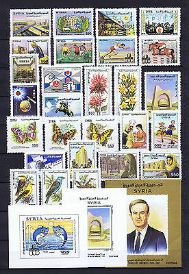 Syria, Complete Year Sets 1991, MINT NEVER HINGED.