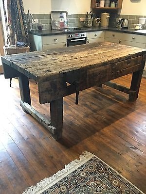 Large Pine Carpenters Work Bench / Kitchen Island / Prep Table