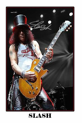 4x6 SIGNED AUTOGRAPH PHOTO PRINT OF SLASH #47