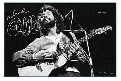 4x6 SIGNED AUTOGRAPH PHOTO PRINT OF CAT STEVENS #48