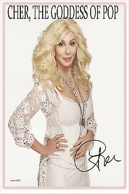 4x6 SIGNED AUTOGRAPH PHOTO PRINT OF CHER #48