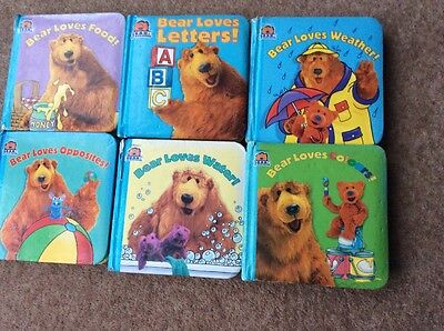 Bear In The Big Blue House 6x Set Of Books Padded Cover Board Colours Water Food