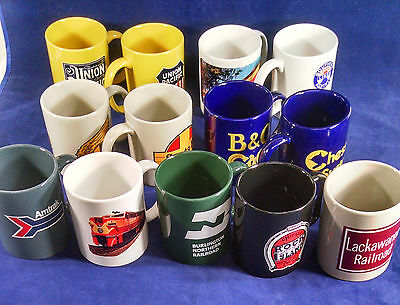 Frank Sinatra Jr. Estate: Group of railroad-related souvenir coffee mugs