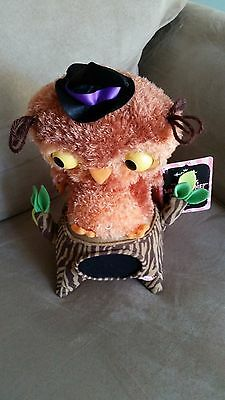 NWT HALLMARK Dancing Owl lover Halloween FALL musical tree ADORABLE must have