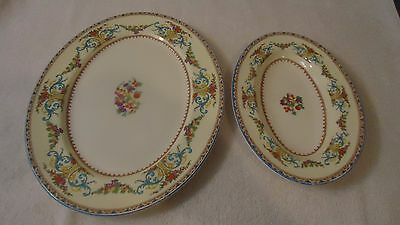 "Vintage Royal York by Myott Staffordshire 12 1/2""  PLATTER  & 9""  DISH"