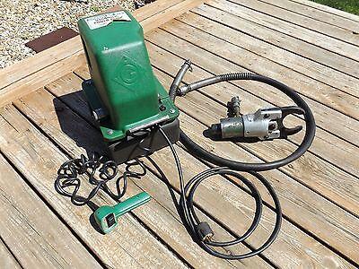 Greenlee 975 Hydraulic Power Pump + 746 Cable Cutter Ram WORKS!