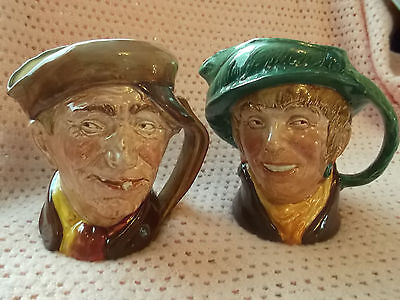 Large Royal Doulton Character Jugs  - Arry And Arriet