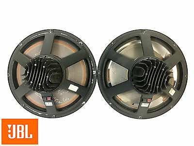 "JBL 2258 HPL 18"" Neodymium Double VC 8ohm LF Speaker PAIR AS IS See Details 3409"