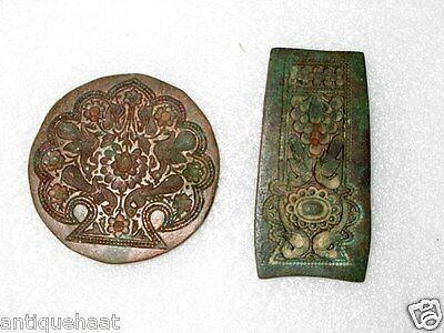 1850's Antique Old Bronze Hand Engraved Tribal Unique Design Jewelry Die Mold