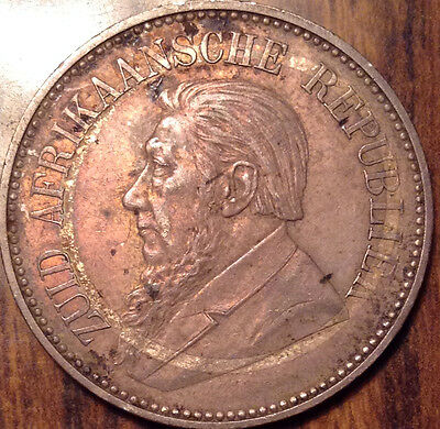 1896 South Africa Silver 2 1/2 Shillings - Near Uncirculated