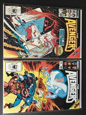 AVENGERS #260 #261 (Vol.1) MARVEL COMICS