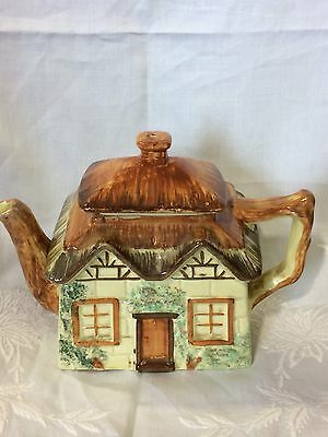 Vintage Teapot Keele Pottery Yellow Cottage Cute Quirky VGC
