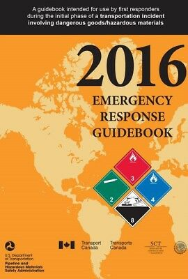 "2016 Emergency Response Guidebook, Standard Bound Pocket Size 4"" x 6"""