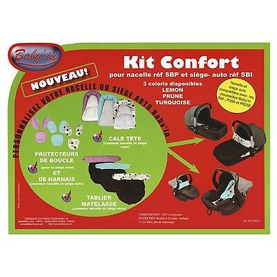 Kit confort Baby'in bleu turquoise gris noir NEUF protection Nacelle Siège-auto