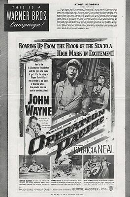 OPERATION PACIFIC pressbook, John Wayne, Patricia Neal, Ward Bond, Philip Carey